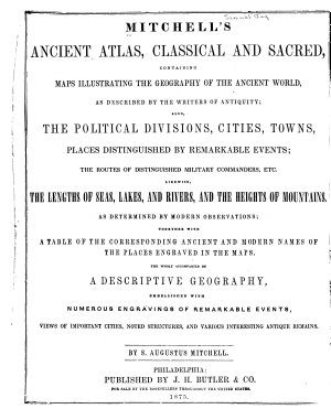 Mitchell s Ancient Atlas  Classical and Sacred