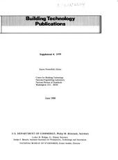Building technology publications: supplement 4, 1979