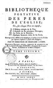 Bibliothèque portative des Pères de l'église