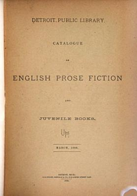 Catalogue of English Prose Fiction and Juvenile Books  March  1886 PDF