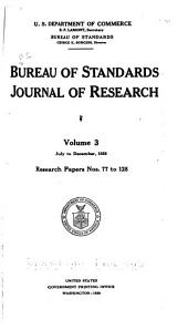 Bureau of Standards journal of research: Volume 3