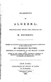 Elements of Algebra: Tr. from the French of M. Bourdon