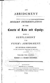 A General Abridgment of Law and Equity: alphabetically digested under proper titles, with notes and references to the whole, Volume 2