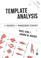 Template Analysis for Business and Management Students PDF