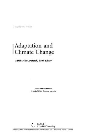 Adaptation and Climate Change PDF