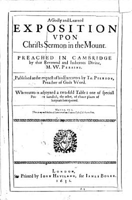 The Workes of     W  Perkins  The Third and Last Volume  Newly Corrected and Amended  Etc PDF