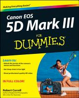 Canon EOS 5D Mark III For Dummies PDF
