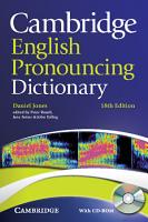 Cambridge English Pronouncing Dictionary with CD ROM PDF