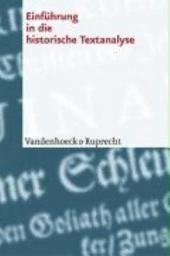Einführung in die historische Textanalyse
