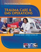 Professional Paramedic  Volume III  Trauma Care   EMS Operations PDF