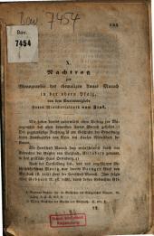 Nachtrag zur Monographie des ehemaligen Amtes Murach in der oberen Pfalz