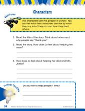 Read & Succeed Comprehension Level 1: Characters Passages and Questions