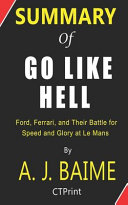 Summary of Go Like Hell by A  J  Baime   Ford  Ferrari  and Their Battle for Speed and Glory at Le Mans PDF