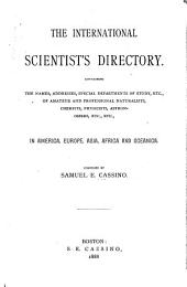 The Scientist's International Directory