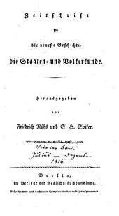 Zeitschrift für die neueste Geschichte die Staaten- und Völkerkunde: Band 4