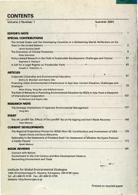 International Review for Environmental Strategies PDF