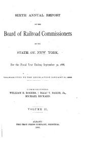 Annual Report of the Board of Railroad Commissioners of the State of New York for the Fiscal Year Ending: Volume 2