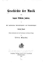 Geschichte der Musik: Volume 3