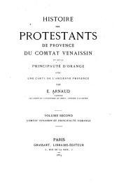 Histoire des protestants de Provence, comtat Venaissin et de la principauté d'Orange: Comtat Venaissin et principauté d'Orange