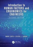 Introduction to Human Factors and Ergonomics for Engineers  Second Edition PDF
