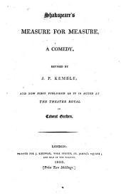 Shakspeare's Measure for measure: a comedy