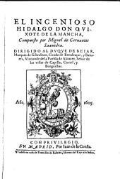 El ingenioso hidalgo, Don Quixote de la Mancha: Volumen 1