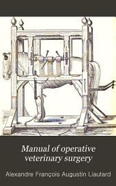 Manual of Operative Veterinary Surgery