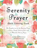 Serenity Prayer Adult Coloring Book