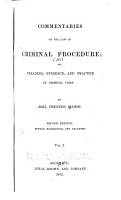 Commentaries on the Law of Criminal Procedure PDF