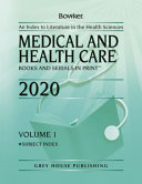 Medical   Health Care Books   Serials in Print  2020 PDF