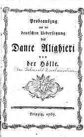 Probeauszug aus der deutschen Übersetzung des Dante Alighieri von der Hölle