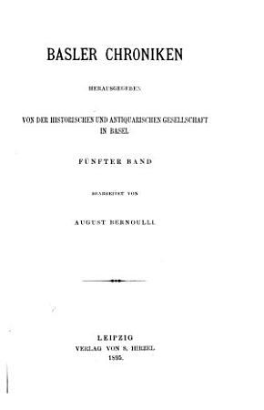 Basler Chroniken PDF