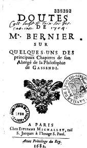 Doutes sur quelques uns des principaux chapitres de l'abrégé de la philosophie de Gassendi