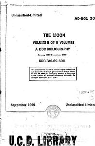 The Moon  a DDC Bibliography  January 1953 December 1968