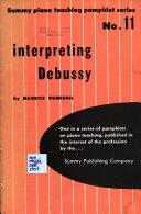 Interpreting Debussy