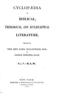 Cyclopaedia of Biblical  Theological  and Ecclesiastical Literature PDF