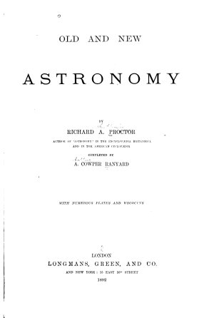 Old and New Astronomy