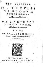 De templis Graecorum recentioribus