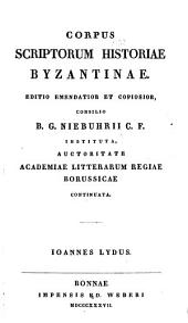 Commentarius et animadversiones de Ioanne Lydo