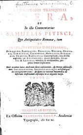 Caji Suetonii Tranquilli opera: et in illa commentarius Samuelis Pitisci, Volume 2