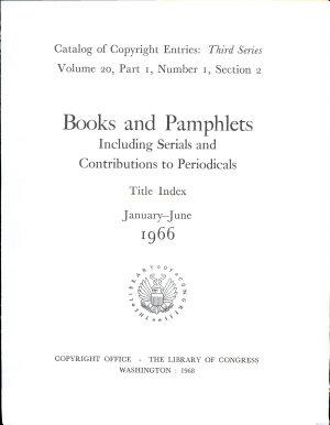 Catalog of Copyright Entries  Third Series