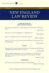 New England Law Review: Volume 49, Number 4 - Summer 2015