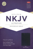 NKJV Ultrathin Reference Bible  Black Genuine Leather PDF