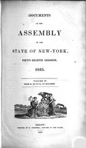 Documents of the Assembly of the State of New York: Volume 4, Issues 264-379
