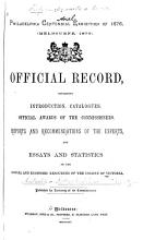 Official Record Containing Introduction  Catalogues  Official Awards of the Commissioners  Reports and Recommendations of the Experts  and Essays and Statistics on the Social and Economic Resources of the Colony of Victoria PDF