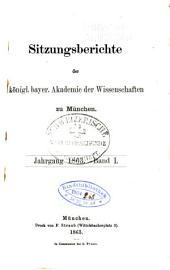Sitzungsberichte der Konigl. bayerischen akademie der wissenschaften