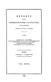 Reports from Commissioners: Volume 27