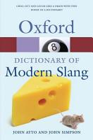 Oxford Dictionary of Modern Slang PDF