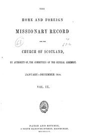 The Home and Foreign Missionary Record for the Church of Scotland: Volume 9