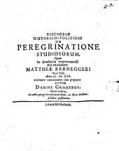 Discursus hist. polit. de peregrinatione studiosorum